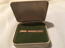 Vintage Anson Pink Stone Accent Tie Bar Clip Pin 1/20 12K Gf Nos