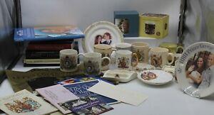 Large Bundle of Royal Family Memorabilia, Includes Pottery, Books, DVDS.