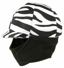 Tough 1 Winter Horse Riding Helmet Cover w Fleece Neck Warmer Black Zebra NEW!
