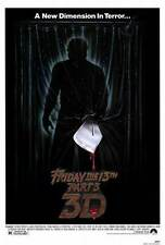 FRIDAY THE 13TH PART 3 Movie POSTER 27x40 Dana Kimmell Paul Kratka Richard