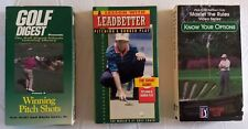 3 Golf Instructional Vhs Tapes Winning Pitch Shots Master the Rules Bunker Play