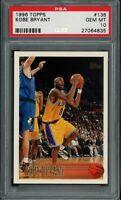 KOBE BRYANT 1996-97 Topps #138 RC Rookie (Lakers) HOF PSA 10 GEM MINT