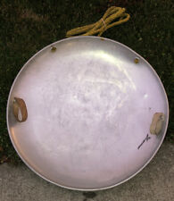 """Vintage Round 25"""" Aluminum Flying Saucer Snow Sled, Intact Handles, GUC"""