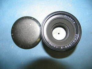 LEITZ CANADA SUMMICRON-R 50mm F1:2 CAMERA LENS WITH LENS CAP VERY CLEAN/WORKS