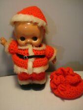 """Vintage....Plastic Celluloid....Kewpie.....Santa Baby....10"""" Doll...Japan"""