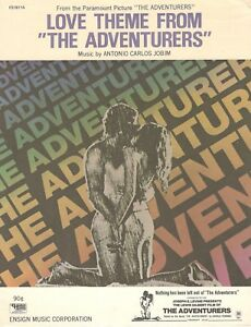 """LOVE THEME FROM """"THE ADVENTURERS SHEET MUSIC-PIANO SOLO-1970-RARE-NEW ON SALE!!"""