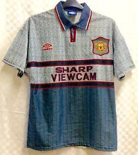 Manchester United 1995 1996 Away Football Shirt Umbro Invisible Kit