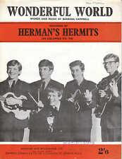Wonderful World-Herman's Hermits - 1960 Partituras