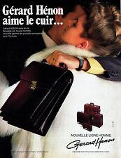 Publicité Advertising 097  1983  ligne homme maroquinerie Gérard Hénon