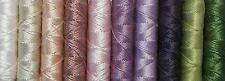 SILKA - fil à broder, cordonnet soie naturelle, lot de 10, coloris assortis P008