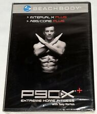 P90X Interval X Plus ABS/ Core Extreme Home Fitness w Tony Horton New Sealed DVD