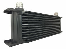 Black 13 row universal front mount oil cooler - AN10 7/8 14 UNF
