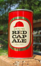 "Splendid 1960's ""Since 1840"" Version Carling Red Cap Ale Pull Tab Beer Can!"
