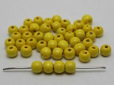 200 Yellow 10mm Round Wood Beads~Wooden Beads