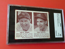1941  DOUBLE PLAY  PHIL  RIZZUTO  ROOKIE / LEFTY  GOMEZ  SGC 50  NICE  CENTERING