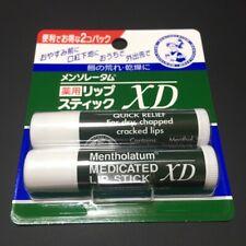 Mentholatum MEDICATED LIP STICK  XD ROHTO 2 in 1 pack Japanese lip balm 4.0g