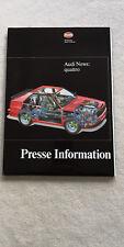 Audi Sport quattro Sportquattro Pressemappe Prospekt Broschüre SEHR selten