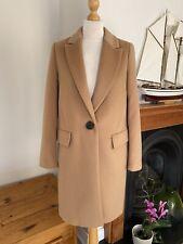 Zara Camel Masculine Wool Single Breasted Coat , Size S - UK 10