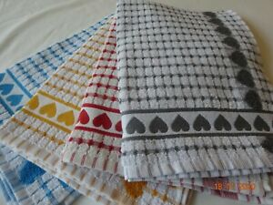 100% Cotton Hand/Tea Towels.  Great for your Hands/Dishes New Big Hearts Design