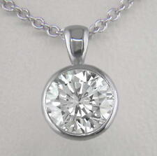 1ct Diamond Solitaire & Platinum Pendant Certified D IF Brilliant Cut with Chain