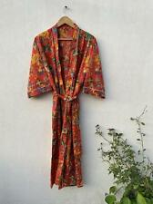 Cotton kimono Robes, Bird print Kimono, Soft and comfortable Bath robes