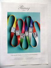 PUBLICITE-ADVERTISING :  POIRAY Collection Ma Première - 6 Montres  2014