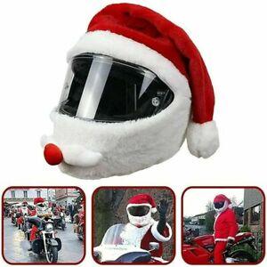 Christmas Helmet Cover Santa Claus hat For Motorcycle Motorbike Helmet Case Xmas