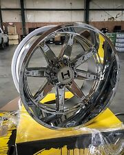 IN STOCK! 4-NEW Hostile H109 Alpha 22x12 8x6.5 -44mm Chrome Wheels Chevy Dodge