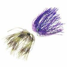 2 Each 12 Assassinator Buzz /& Spinnerbait Silicone Replacement Skirts 6 Colors