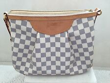 Authentic Louis Vuitton Damier Azur Siracusa PM Shoulder Bag