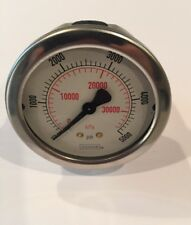 NOSHOK 900 Series Stainless Steel Liquid Filled Dial, Back Mount 0-5000 psi