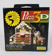 Wrebbit Puzz3D Birdies Perch Coffee Shop 3D Miniature Puzzle 57 Pieces