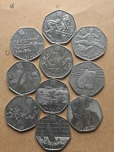 50p coin olympic job lot x 10