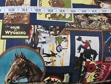 Western Collage fabric Rodeo Cowboy Kaufman cotton by Kate Ward Bthy half yard