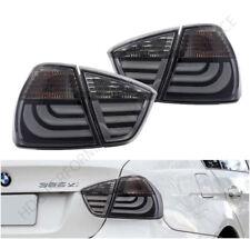 05-08 BMW 3-Series E90 4DR Sedan Smoke Lens New Generation LED Tail Lights Pair