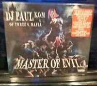 DJ Paul of Three Six Mafia - Master of Evil CD SEALED 3 6 insane clown posse 36