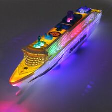 OCEAN LINER CRUISE SHIP BOAT ELECTRIC TOY FLASH LED LIGHT SOUND For KID CHILD
