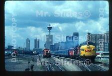 Original Slide VIA FP7A 1432 & 2 Passenger Action Calgary AB 1980