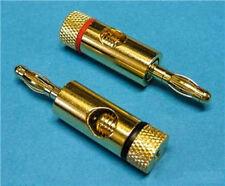 2 x gold banana plugs 4mm haut-parleur connecteur amp