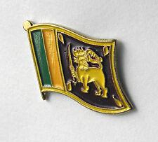 SRI LANKA INTERNATIONAL COUNTY SINGLE FLAG LAPEL PIN 3/4 inch