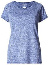 Womens Exm&S Dark-Blue Performance Marl Tee Exercise Running T Shirt Size 10