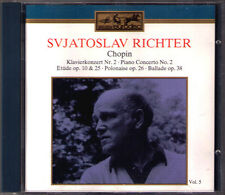 Sviatoslav Richter: CHOPIN Piano Concerto No. 2 Etude No. 3 Ballade Svetlanov CD
