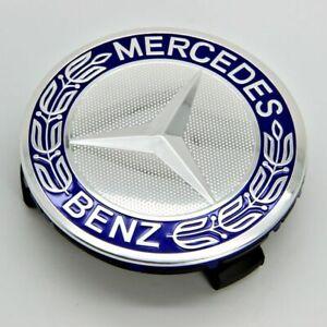 Blue Wheel Hub Center Cap Emblem Badge Logo 75mm For Mercedes Benz  A1714000025