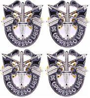 "4 X SPECIAL FORCES CREST SF Hat 1"" Pin DE OPPRESSO LIBER"