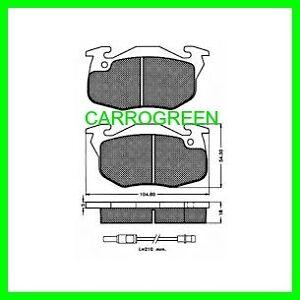 4 Plaquette de Freins Avant PEUGEOT 205 Diesel