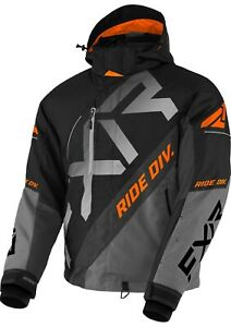2021 FXR MENS CX Black/Gray/Charcoal/Orange JACKET COAT- WINTER SNOW - 2XL - NEW