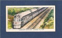 Chicago Burlington & Quincy Railroad DENVER ZEPHYR Diesel Flyer 1938 card