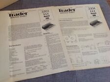 Service Sheet for B & O Beocord 5000 Stereo cassette deck 1978 Vintage