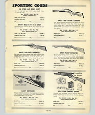 1952 PAPER AD Daisy Air Rifle BB Gun Red Ryder Defender Target Outfit