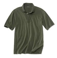 Mens Orvis Montana Morning Polo Shirt Sage Green Rugby Cotton Collar NWT XL